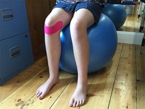 Gym Ball Physio Knee Tape